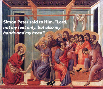 Jesus Washing the Feet of Apostle Peter